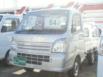 スズキ キャリイ トラック  660 KCエアコン・パワステ 3方開 メーカー保証付 シルバー 1枚目