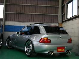 BMW Z3  クーペ 19AW&車高調 赤革サンルーフ 後方
