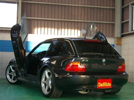 BMW Z3  Z3クーペ タン革 ガルウイング車輌 後方