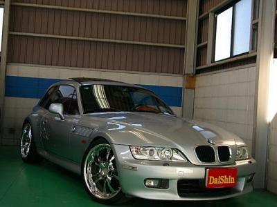 BMW Z3  クーペ 19AW&車高調 赤革サンルーフ 全体
