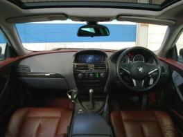 BMW 6シリーズ  630i 純正HDDナビ 赤革/SR 内部